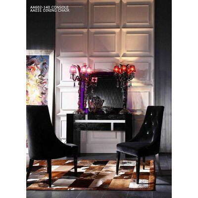 Estelle Side Chair Upholstery: Black
