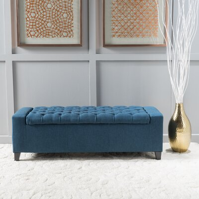 Ilchester Upholstered Storage Bench Upholstery: Dark Blue