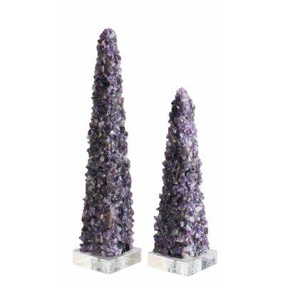 Purple Quartz Obelisk Sculpture