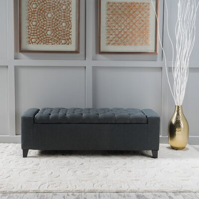 Ilchester Upholstered Storage Bench Upholstery: Dark Grey