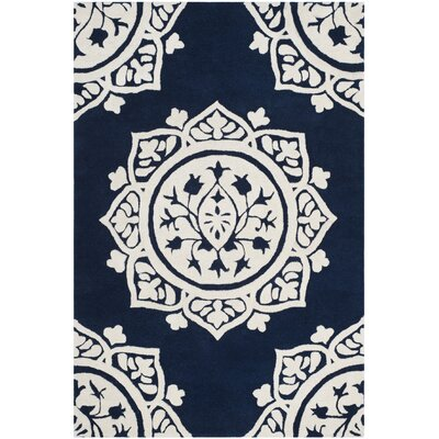 Romford Hand-Tufted Blue Area Rug Rug Size: Rectangle 4 x 6