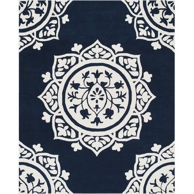 Romford Hand-Tufted Blue Area Rug Rug Size: Rectangle 8 x 10