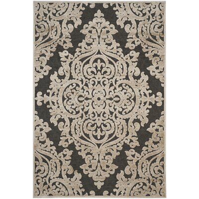 Mitchum Stone / Anthracite Area Rug Rug Size: Rectangle 53 x 76