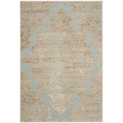 Mitchum Beige / Blue Area Rug Rug Size: Rectangle 53 x 76