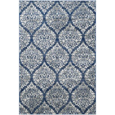 Herne Bay Navy / Ivory Area Rug Rug Size: Rectangle 4 x 6