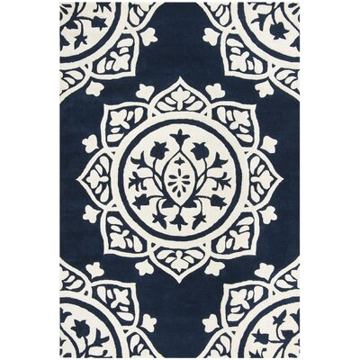 Romford Hand-Tufted Blue Area Rug Rug Size: Rectangle 6' x 9'