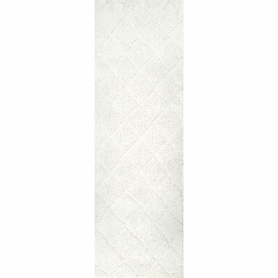 Hermione White Area Rug Rug Size: Runner 28 x 8