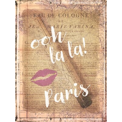 'Parfum Paris' Graphic Art Print on Canvas