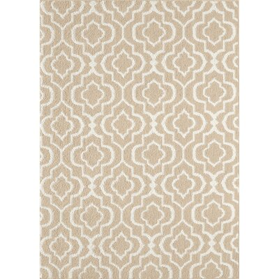Minehead Tan/Off-White Area Rug Rug Size: 5 x 7