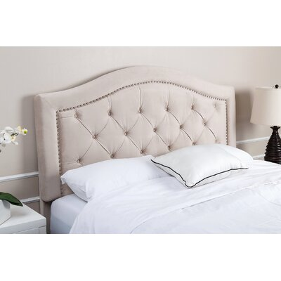 Bridgeton Upholstered Panel Headboard Size: California King, Upholstery: Ivory