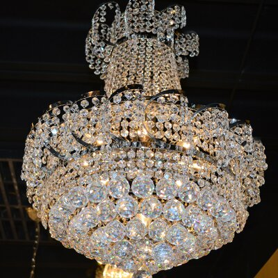 Carson 11-Light Chain Empire Chandelier Finish: Chrome