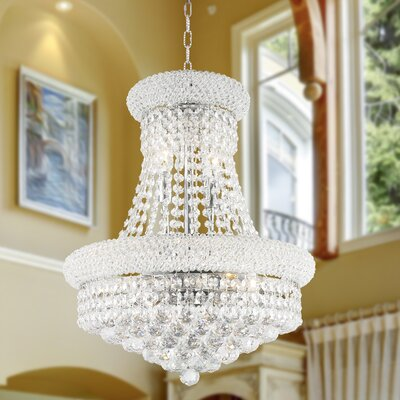 Carson 8-Light 60W Empire Chandelier Finish: Chrome