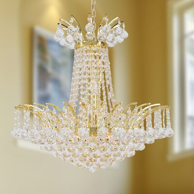 Carson 8-Light 40W Empire Chandelier Finish: Gold