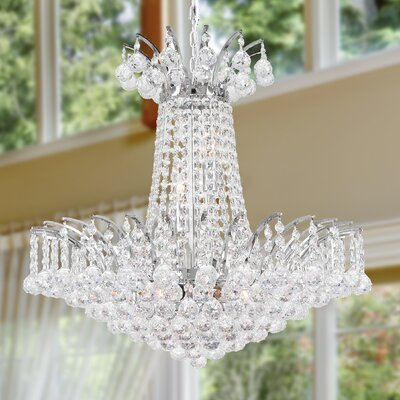 Carson 8-Light 40W Empire Chandelier Finish: Chrome