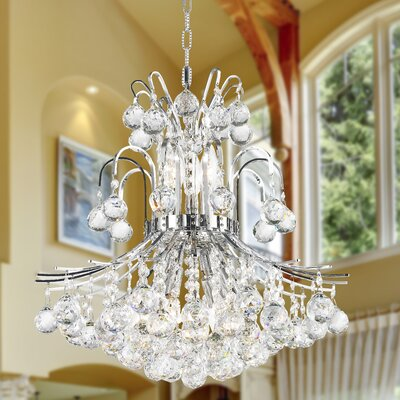 Carson 9-Light Crystal Chandelier Finish: Chrome