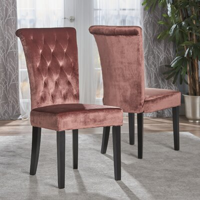 Normanton Upholstered Dining Chair Upholstery Color: Blush