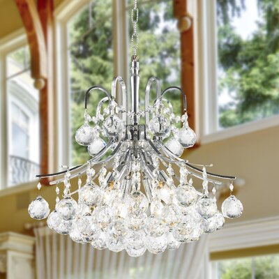 Carson 6-Light 60W Crystal Chandelier Finish: Chrome
