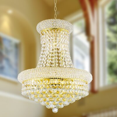 Carson 8-Light 60W Empire Chandelier Finish: Gold
