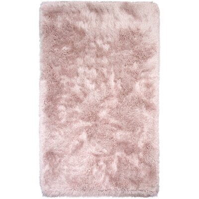 Somerville Hand-Tufted Pink Rose Area Rug Rug Size: 5 x 76