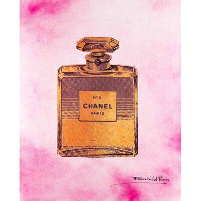 1940s Vintage Chanel No.5' Framed Fairchild Paris Wall Art