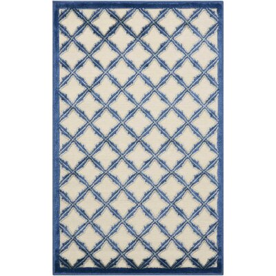 Hartz Ivory/Blue Area Rug Rug Size: Rectangle 26 x 4