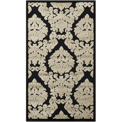 Hartz Black/Beige Area Rug Rug Size: Rectangle 22 x 39