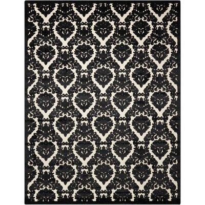 Hartz Ivory/Black Area Rug Rug Size: Rectangle 76 x 96