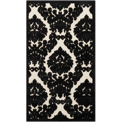 Hartz Ivory/Black Area Rug Rug Size: Rectangle 22 x 39