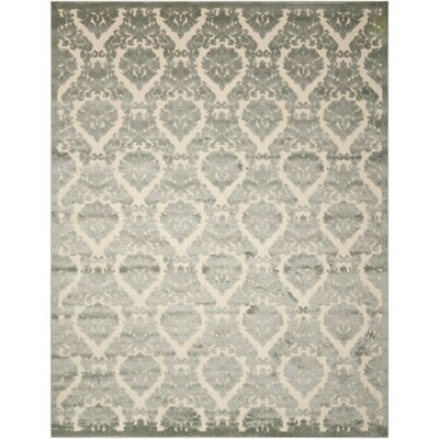 Hartz Ivory/Green Area Rug Rug Size: Rectangle 76 x 96