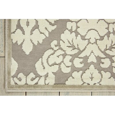 Hartz Silver/Ivory Area Rug Rug Size: Rectangle 22 x 39