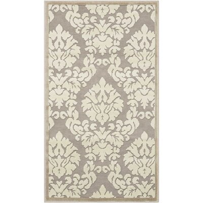 Hartz Silver/Ivory Area Rug Rug Size: Rectangle 36 x 56