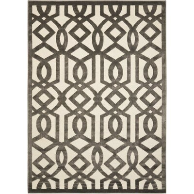 Hartz Ivory/Gray Area Rug Rug Size: Rectangle 53 x 73