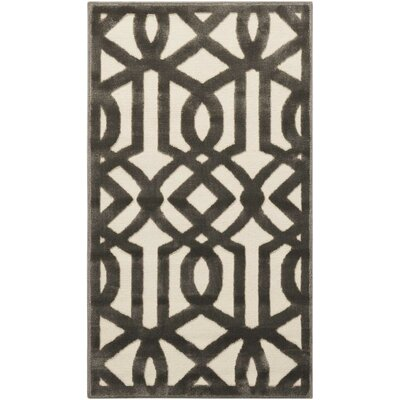 Hartz Ivory/Gray Area Rug Rug Size: Rectangle 22 x 39