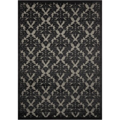 Hartz Gray/Black Area Rug Rug Size: Rectangle 53 x 73