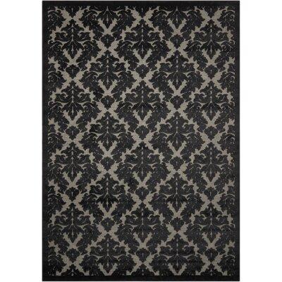 Hartz Gray/Black Area Rug Rug Size: Rectangle 53 x 73