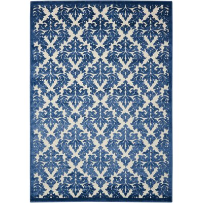 Hartz Ivory/Blue Area Rug Rug Size: Rectangle 53 x 73