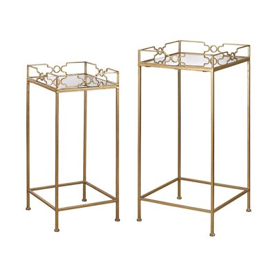 2 Piece Bow Tie End Table Set