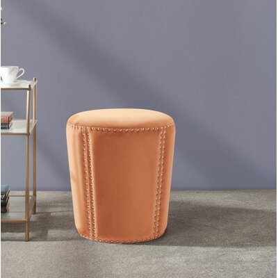 Ofelia Accent Ottoman Upholstery: Orange