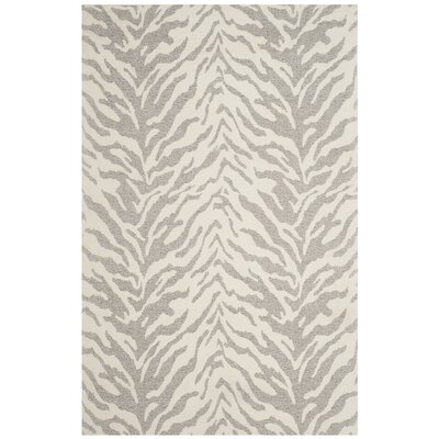 Kempston Hand-Woven Gray/Beige Area Rug Rug Size: Rectangle 3 x 5
