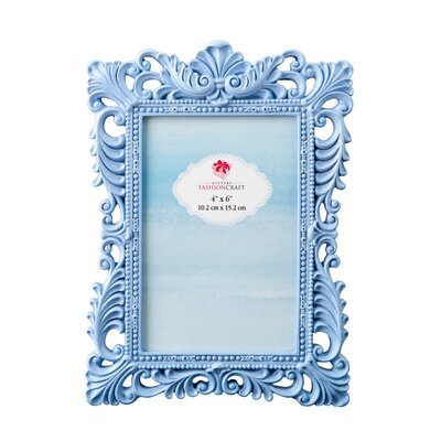 Eleanora Baroque Picture Frame Color: Blue
