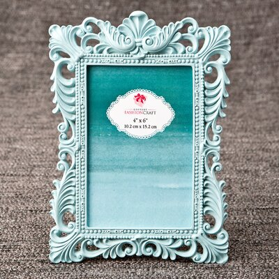 Eleanora Baroque Picture Frame Color: Teal