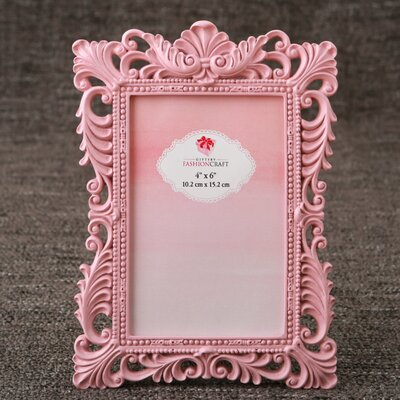 Eleanora Baroque Picture Frame Color: Pink