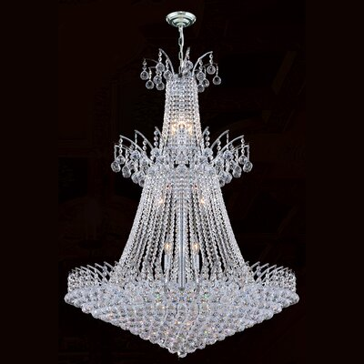 Carson 18-Light Crystal Chandelier Finish: Chrome