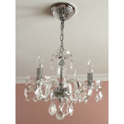 Yvette 4-Light Semi Flush Mount Finish: Clear