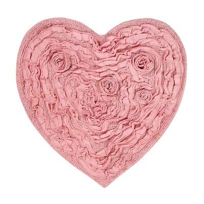 Loganne Bath Rug Color: Pink