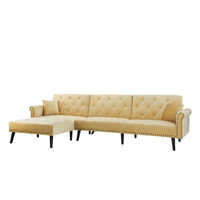 Salcombe Reversible Sectional Upholstery: Champagne