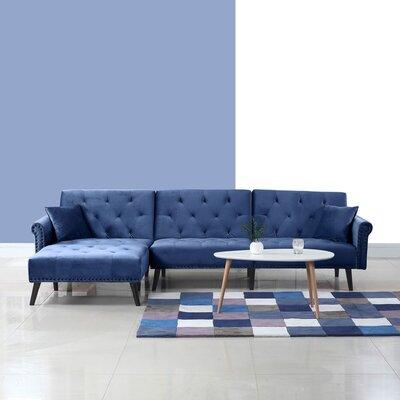 Salcombe Reversible Sleeper Sectional Upholstery: Navy