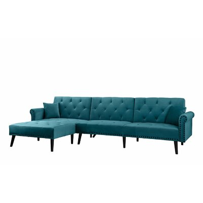 Salcombe Reversible Sectional Upholstery: Teal