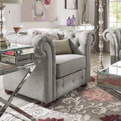 Vegard Tufted Button Armchair Upholstery: Gray