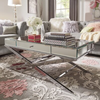 Desid�rio Coffee Table Color: Chrome
